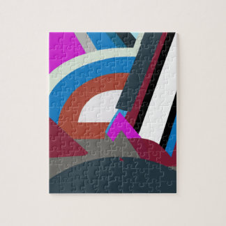 Stylish Modern Abstract Art Jigsaw Puzzle