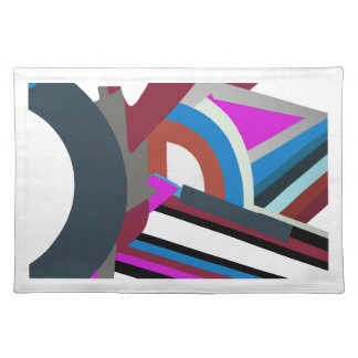 Stylish Modern Abstract Art woven cotton placemats