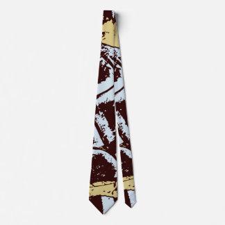 Stylish Modern Abstract Blue Brown Beige Cravat Tie