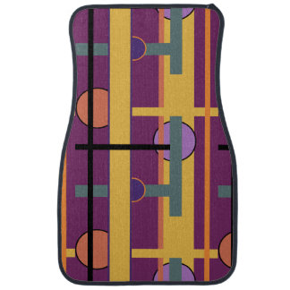 Stylish Modern Colorful Abstract Geometric Design Car Mat
