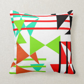 Stylish Modern Colorful Abstract Geometric Design Throw Cushions