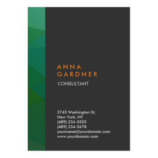 Stylish Modern Elegant Grey Green Stripe Creative Pack Of Chubby Business Cards