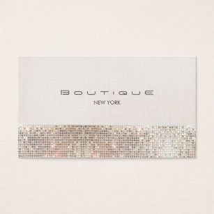 Linen business cards business card printing zazzle uk stylish modern faux sequins and beige linen business card reheart Gallery