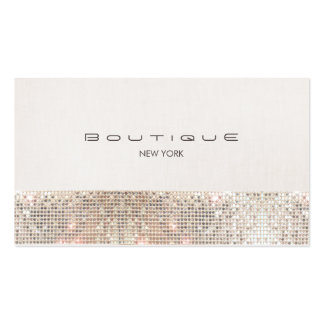 Stylish Modern Faux Sequins and Beige Linen Pack Of Standard Business Cards