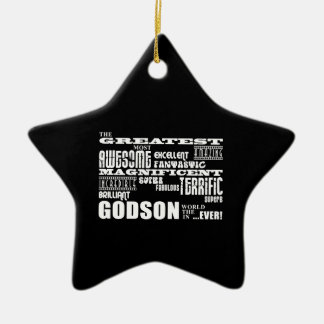 Stylish Modern & Fun Godsons : Greatest Godson Christmas Ornament