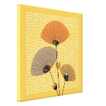 Stylish Modern Mid Century Floral Illustration Canvas Prints