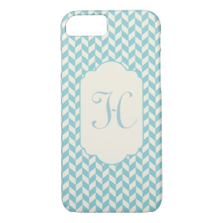 Stylish Modern Monogram Chevron iPhone 8/7 Case