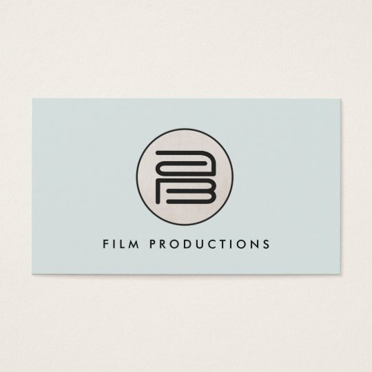 Stylish Modern Monogram Stylish Round Emblem Business Card