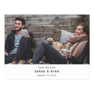 Stylish Modern Photo Save the Date Postcard