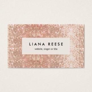 Stylish Modern Rose Gold Sequin Beauty Salon