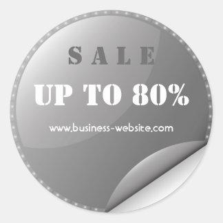 Stylish Modern Sale Glassy Business Sticker