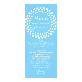 Stylish Modern Sky Blue Wedding Table Menu 10 Cm X 24 Cm Invitation Card