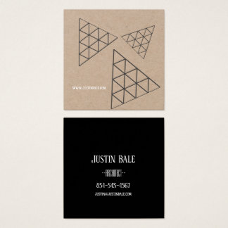 Stylish Modern Square Business Card Earth Colors