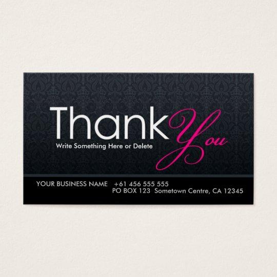 Stylish Modern Thank You Business Card