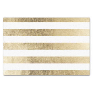Stylish modern trendy faux gold foil stripes tissue paper