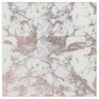 Stylish modern white faux rose gold elegant marble fabric