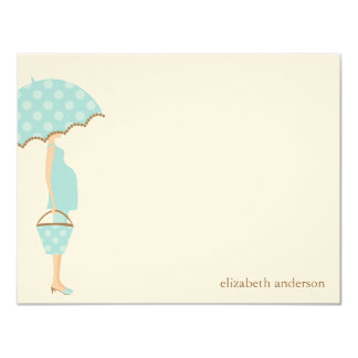 Stylish Mom to Be Baby Shower Flat Thank You Cards 11 Cm X 14 Cm Invitation Card