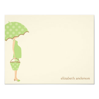 """Stylish Mom to Be Baby Shower Flat Thank You Cards 4.25"""" X 5.5"""" Invitation Card"""
