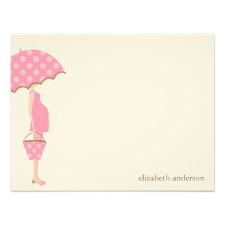Stylish Mom to Be Baby Shower Flat Thank You Cards Custom Announcements