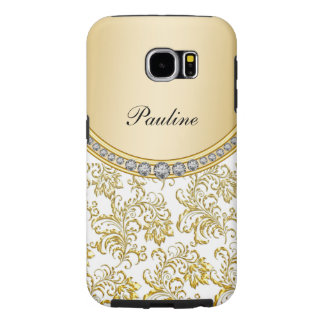 Stylish Monogram Bling Samsung Galaxy S6 Cases