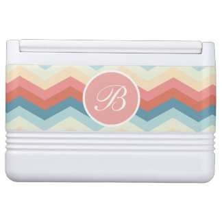 Stylish Monogram Designer Chevron Igloo Cooler