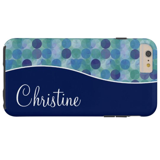Stylish Monogram Tough iPhone 6 Plus Case