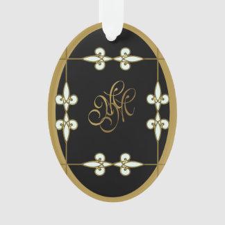Stylish Monogram Victorian Vintage Art Nouveau Ornament