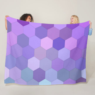 Stylish Mosaic Geometric Fleece Blanket