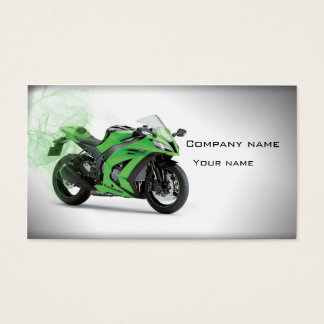 Stylish motorcycle business card