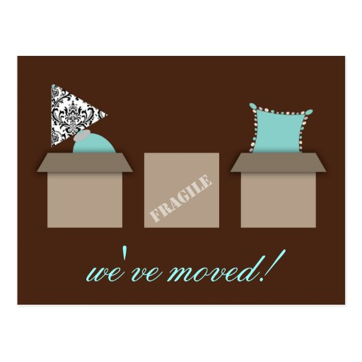 Stylish Moving Boxes Moving Announcement Postcard
