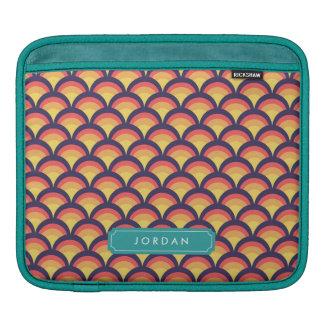 Stylish Multi-Color Waves Geometric Personalized iPad Sleeve
