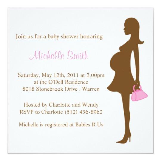 stylish mum to be; baby shower card
