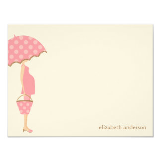 Stylish Mum to Be Baby Shower Flat Thank You Cards 11 Cm X 14 Cm Invitation Card