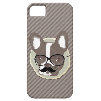 Stylish Mustache French Bulldog iPhone 5 Case
