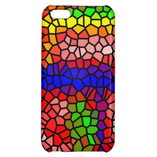 Stylish mutlicolored stained glass case for iPhone 5C