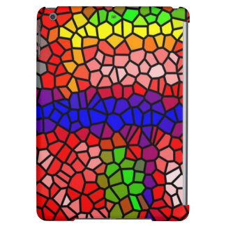 Stylish mutlicolored stained glass iPad air case