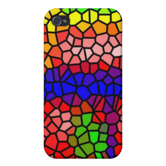 Stylish mutlicolored stained glass iPhone 4 case