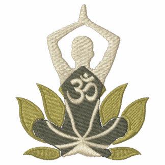 Stylish Namaste Lotus Om Yoga Pose Embroidery Jacket
