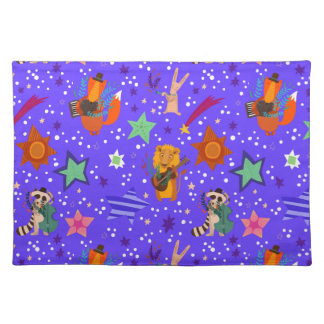 Stylish New Year And Christmas Background Placemat