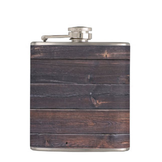 Stylish Old Wood Grain Hip Flask