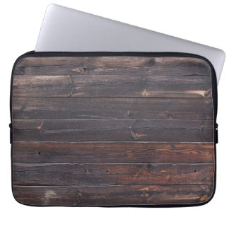 Stylish Old Wood Grain Laptop Sleeve