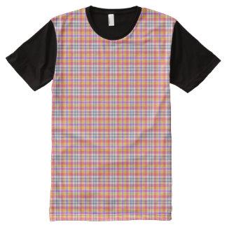 Stylish orange checkered Pattern All-Over Print T-Shirt