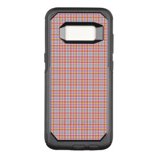 Stylish orange checkered Pattern OtterBox Commuter Samsung Galaxy S8 Case