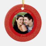 Stylish our first Christmas holiday photo ornament