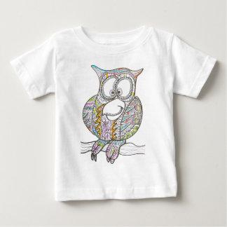 Stylish Owl - Abstract Art Ink Drawing Tee Shirt