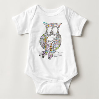Stylish Owl-Whimsical Ink Drawing Tshirt