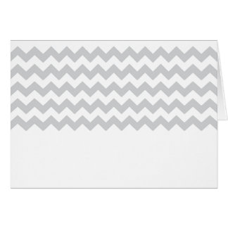 Stylish pale gray zig zags zigzag chevron pattern card
