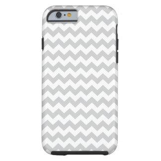 Stylish pale gray zig zags zigzag chevron pattern tough iPhone 6 case