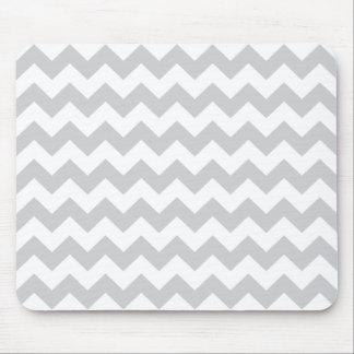 Stylish pale gray zig zags zigzag chevron pattern mouse mat