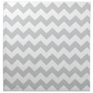 Stylish pale gray zig zags zigzag chevron pattern napkin